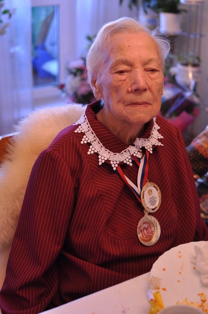 Жительница города Всеволожска Ирина Ивановна Тереничева отметила 100-летний юбилей