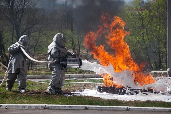 Пожарно-тактические учения в честь 365-летия пожарной охраны России