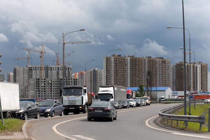Маршрутки из ЖК «Новая Охта» пойдут к метро по перегруженному Токсовскому шоссе