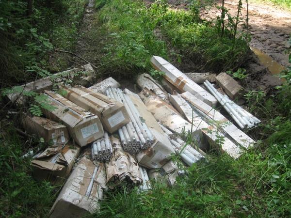 На свалке в посёлке Кузьмоловский обнаружены токсичные отходы