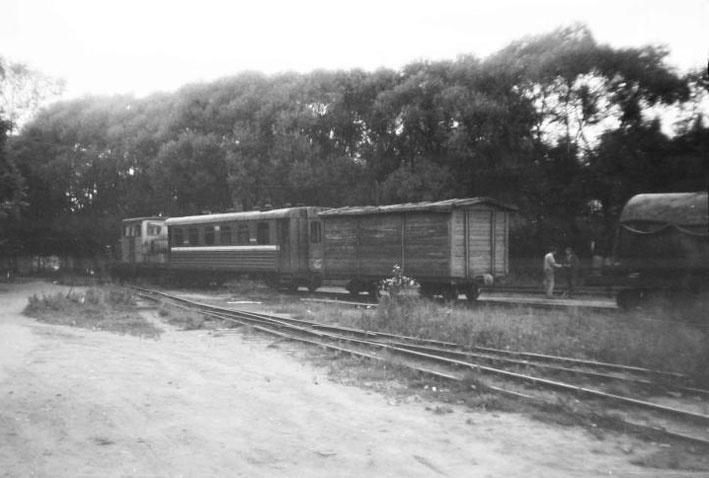 Ириновская железная дорога. Узкоколейная станция в Рахье, 1990 год