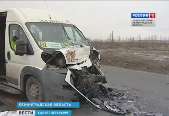 В ДТП с маршруткой в районе Кудрово пострадали 6 человек