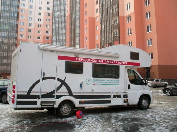 График выездной работы передвижной врачебной амбулатории Всеволожской КМБ на январь 2015 года