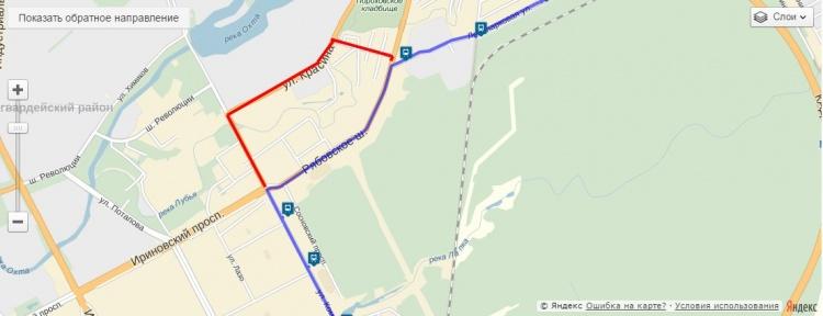 Рябовское шоссе закрыто до 31 января