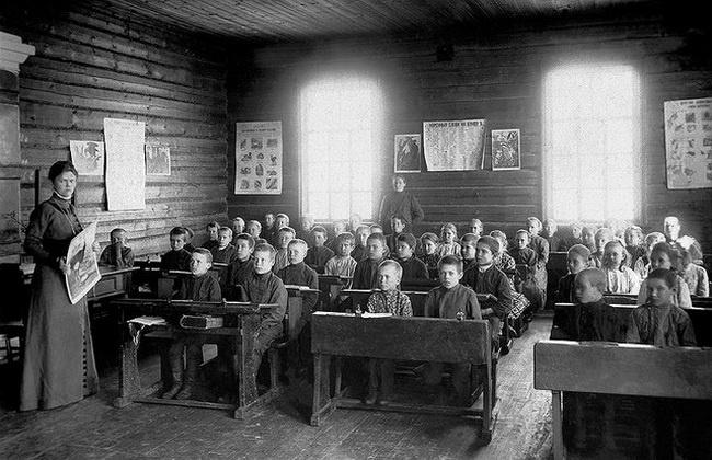 Земские школы 100 лет назад
