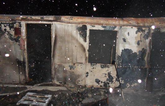 Белорус-нелегал сгорел в бытовке во Всеволожском районе