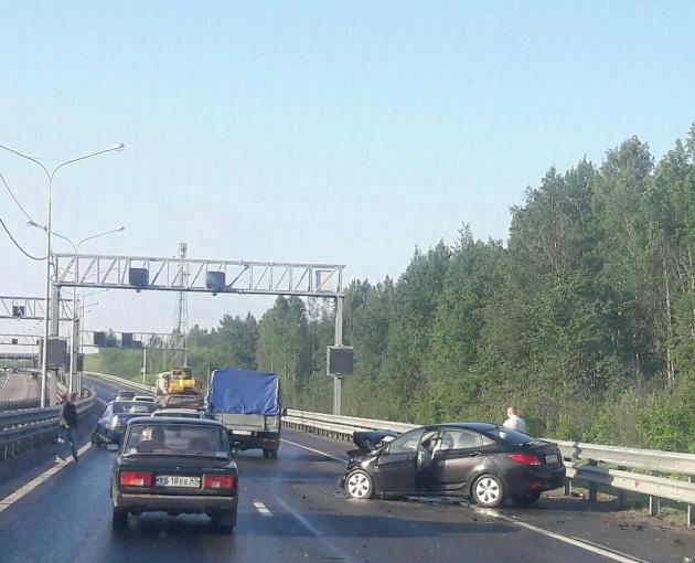 """Столкновение четырёх автомобилей перекрыло """"Сортавалу"""""""