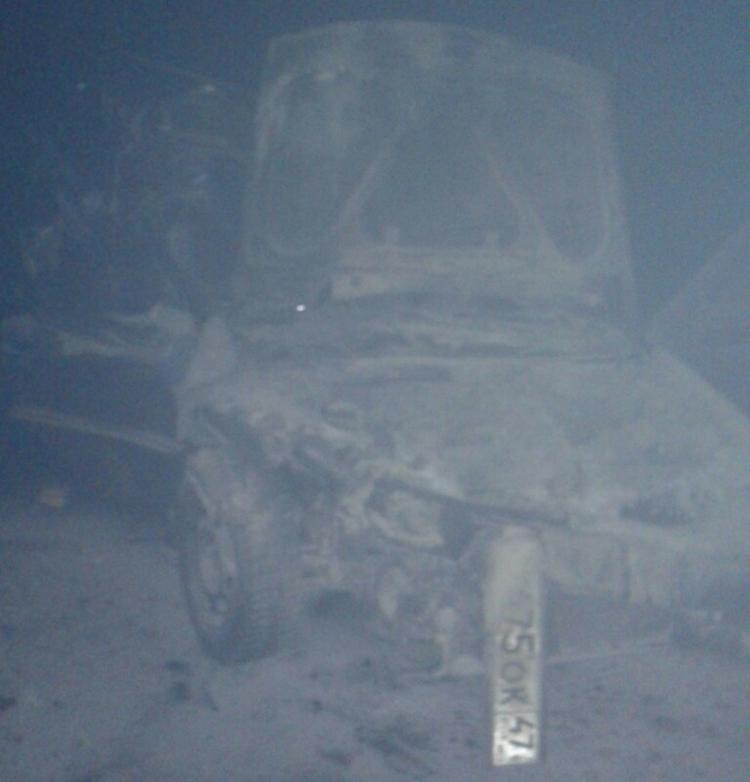 На Новоприозерской трассе после аварии сгорел автомобиль
