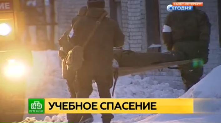 Военные и МЧС вместе тренировались спасать солдат из огня