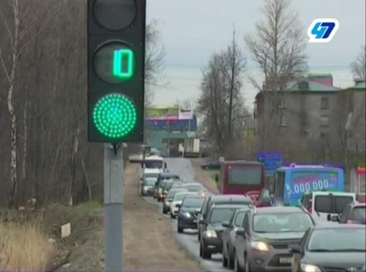 Светофор раздора Мурино и Бугров отрегулировали (видео)