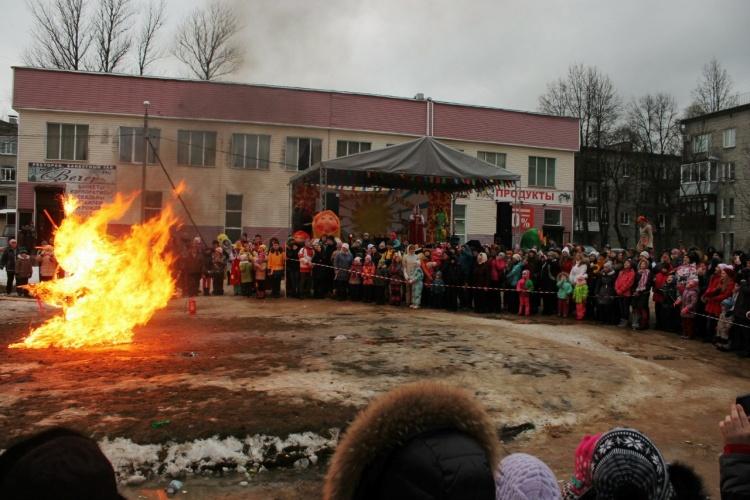 Празднование Масленицы в посёлке Кузьмоловский