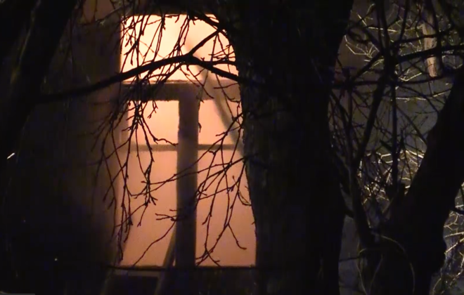 При пожаре нежилого дома в Мурино чуть не погибли 15 лошадей
