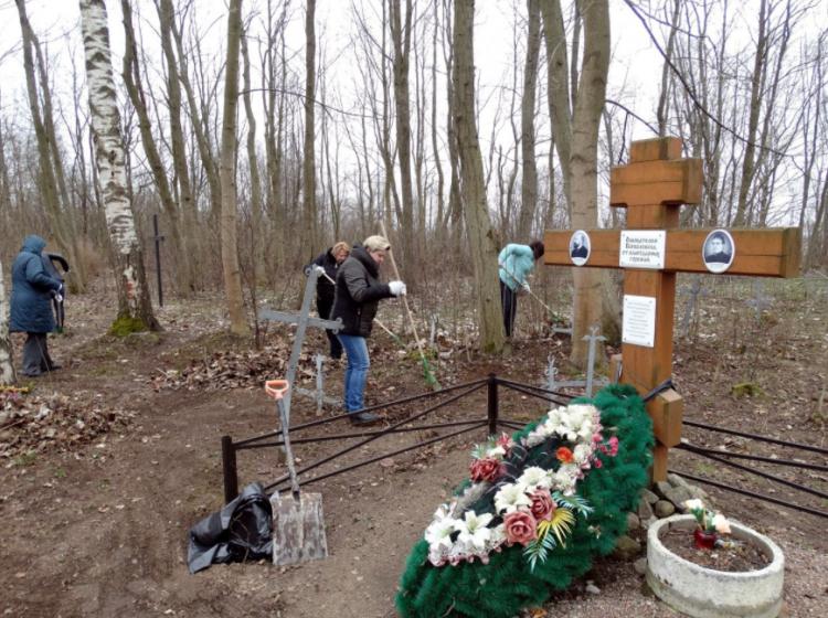 29 апреля прошёл субботник на Всеволожском лютеранском кладбище святой Регины