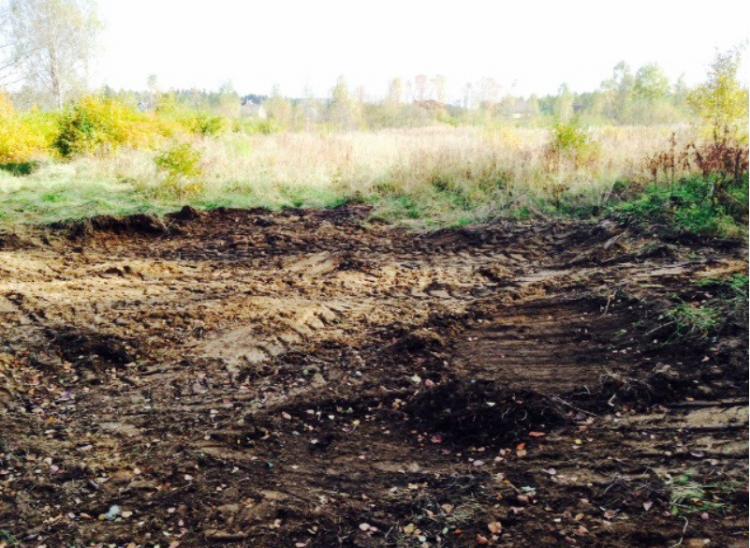 Защитники парка Софиевка: Вырытый бульдозером котлован не похож на пешеходную дорожку