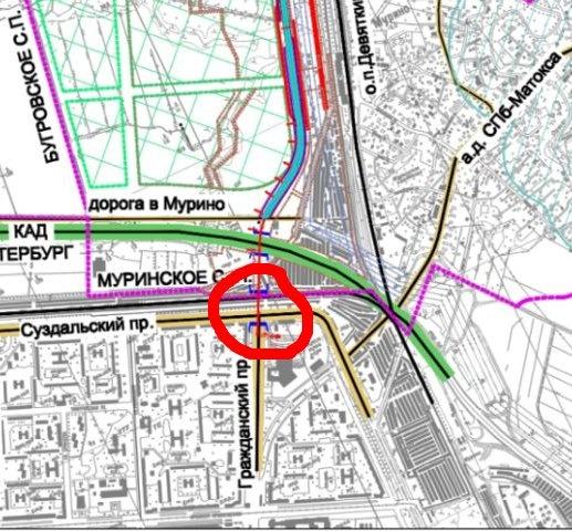 Проект съезда с КАД в створе Гражданского проспекта будет готов в 2016 году