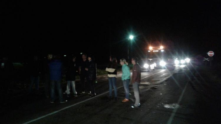 Экс-депутаты Всеволожского района ночью вышли на Мурманское шоссе