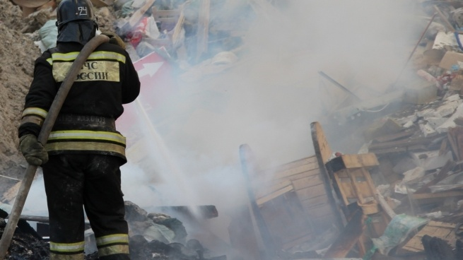 Во Всеволожском районе горела свалка