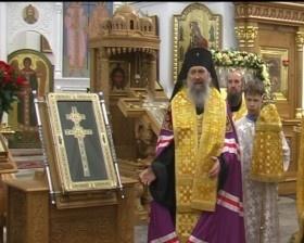 Крест Евфросинии Полоцкой встретили жители Верхнедвинска и Миор