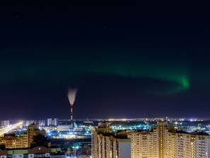 В Петербурге наблюдали первое за весну северное сияние