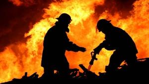 Под поселком имени Морозова тушили пожар