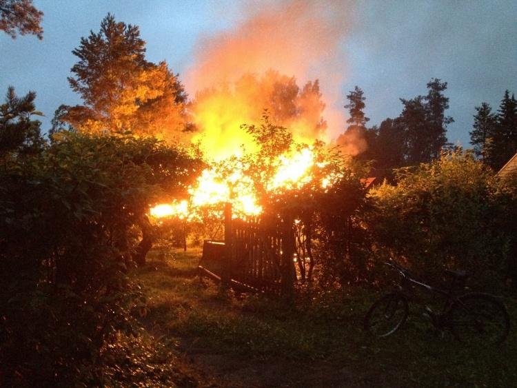 В Ленобласти из-за растопленной печи сгорел дачный участок