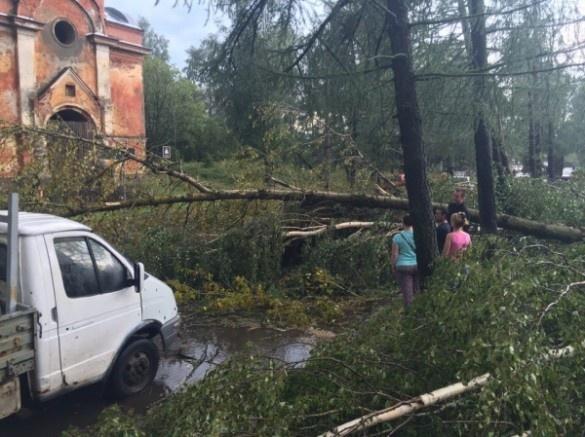 В Волховском районе прошел мощный ураган