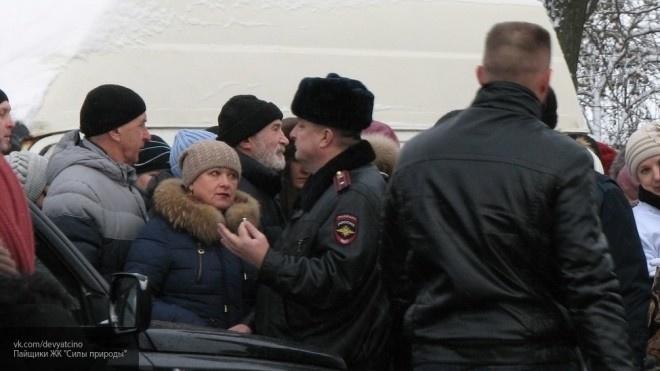 Трех петербуржцев задержали на митинге дольщиков в Мурино