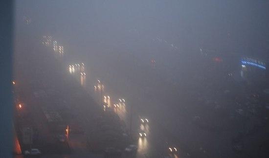 В Петербурге не только гололёд, но и туман